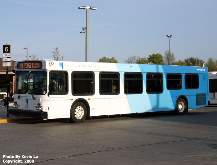 York Region Transit New Flyer D40LF/D40LFR Photos